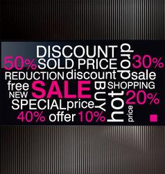 sale discount advertisement vector image