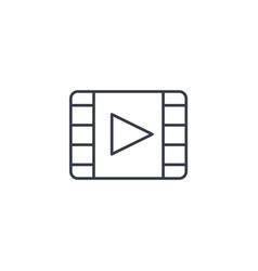 video frame movie film cinema media player vector image vector image