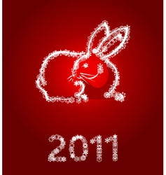year of a rabbit vector image vector image
