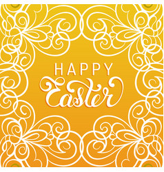 happy easter handwritten type greeting card in vector image