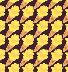 Ice Cream Seamless Pattern Sweet Background vector image vector image
