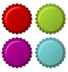 colorized bottle caps vector image