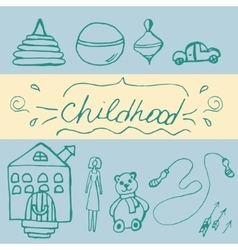 Hand draw icon of baby toy vector image vector image