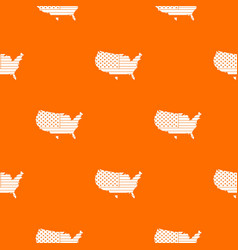 american map pattern seamless vector image vector image