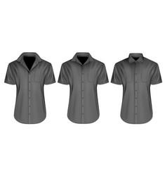 mens short sleeved shirts vector image vector image