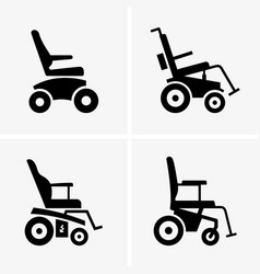 self propelled wheelchairs vector image vector image
