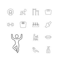 13 body icons vector