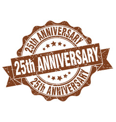 25th anniversary stamp sign seal vector image
