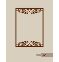 Abstract square frame with swirls vector image