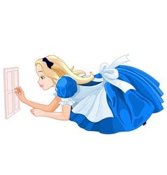 Alice Close to Small Door vector