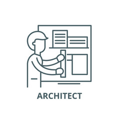 architect line icon architect outline vector image