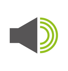 audio speaker interface menu vector image