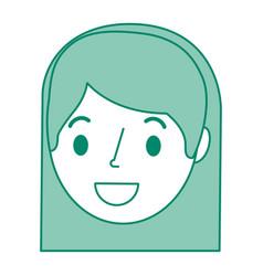 beautiful woman head avatar character vector image