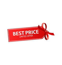 Best price red shopping label cheap product vector
