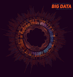 Big data visualization futuristic vector