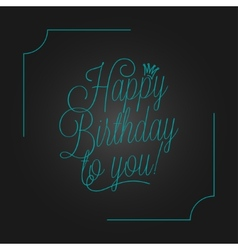 Birthday vintage lettering design background vector