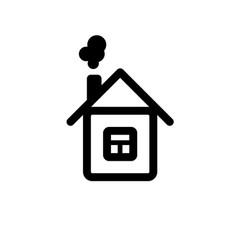 black house icon on isolated white background vector image
