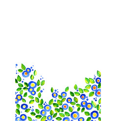 butterfly pea flower watercolor hand painting vector image