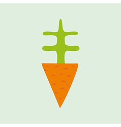 Cartoon carrot element for your design vector