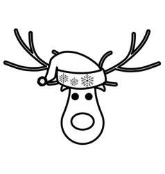 christmas deer design vector image