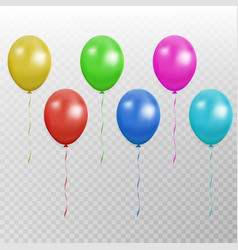 color balloon collection party baloon with vector image