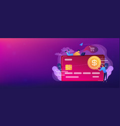 credit card header banner vector image