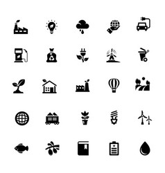eco glyph icon collection vector image