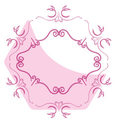 Elegant victorian with hexagonal shape frame vector