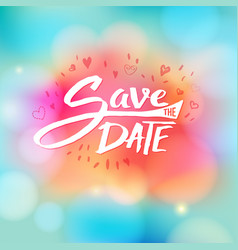 Event invitation with the words save the date vector