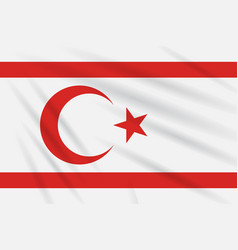 Flag turkish republic of northern cyprus in wind vector
