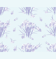 Floral narcissus retro vintage background vector