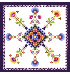 Floral pattern folk vector