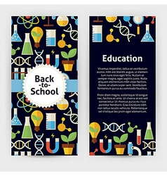Flyer Template of Flat design Back to School vector
