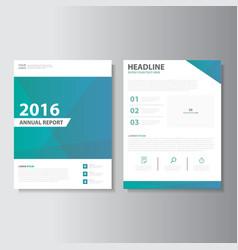 Green blue annual report presentation templates vector