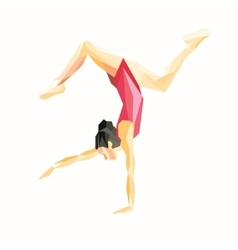 gymnast standing on one hand vector image