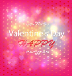 Happy Valentines Day Card Design Ornamental heart vector image