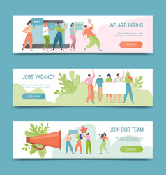 Hiring job vacancy banner vector