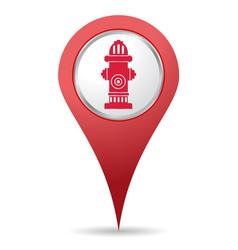 hydrant location icon vector image
