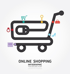 infographics online shopping design diagram vector image