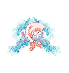 japanese koi background vector image