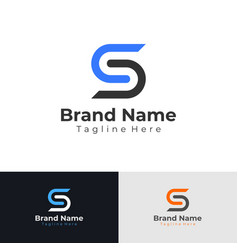 letter s logo flat business logo design vector image