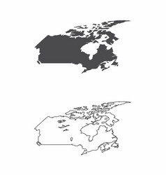 maps of canada vector image