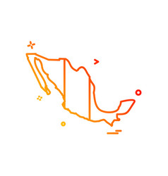 mexico map icon design vector image