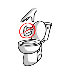 please do not litter in toilet vector image