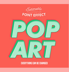 Pop art text editable text style vector
