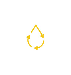 recycle oil drop fresh clean logo icon simple vector image