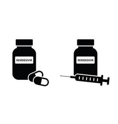 Remdesivir covid-19 liquid medication vector