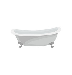 Retro white bathtub bathroom furniture vector