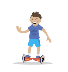 ride the segway vector image