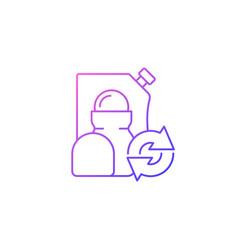 Roll on deodorant refill gradient linear icon vector